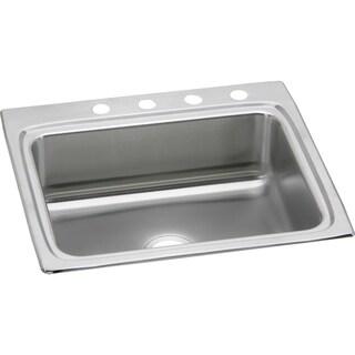 Elkay Gourmet (Lustertone) Stainless Steel Single Bowl Top Mount Sink