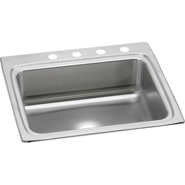 Elkay LR25224 Gourmet Lustertone Stainless Steel Single-bowl Top-mount Sink