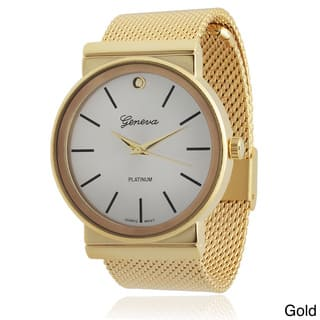 Geneva Platinum Mesh Band Quartz Watch|https://ak1.ostkcdn.com/images/products/8893274/P16114378.jpg?impolicy=medium