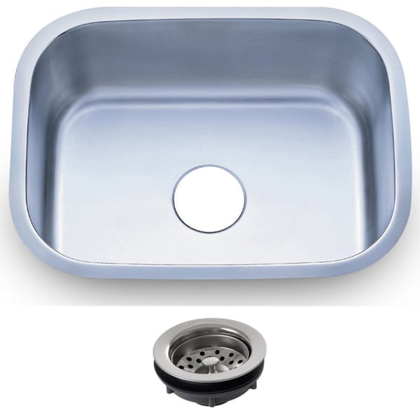 23.5-inch Stainless Steel 18-gauge Undermount Single Bowl Kitchen Sink