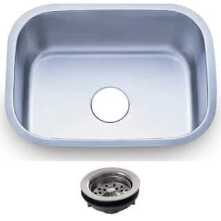 23.5-inch Stainless Steel 18-gauge Undermount Single Bowl Kitchen Sink|https://ak1.ostkcdn.com/images/products/8893291/23.5-inch-Stainless-Steel-16-gauge-Undermount-Single-Bowl-Kitchen-Sink-P16114408.jpg?impolicy=medium