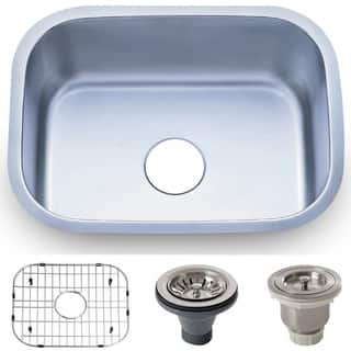 23.5-inch Stainless Steel 18 gauge Undermount Single Bowl Kitchen Sink Basket|https://ak1.ostkcdn.com/images/products/8893293/23.5-inch-Stainless-Steel-18-gauge-Undermount-Single-Bowl-Kitchen-Sink-Basket-P16114409.jpg?impolicy=medium