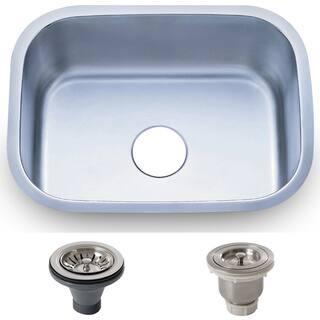 23.5-inch Stainless Steel 18 gauge Undermount Single Bowl Kitchen Sink Basket|https://ak1.ostkcdn.com/images/products/8893305/23.5-inch-Stainless-Steel-18-gauge-Undermount-Single-Bowl-Kitchen-Sink-Basket-P16114410.jpg?impolicy=medium