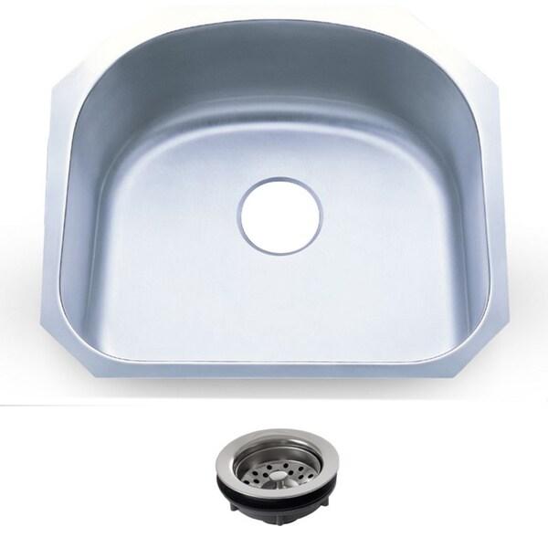 23.25-inch Stainless Steel 18-gauge Undermount Single Bowl Kitchen Sink