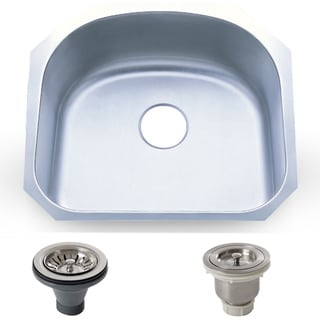 23.25-inch Stainless Steel 18-gauge Coated Undermount Single Bowl Kitchen Sink