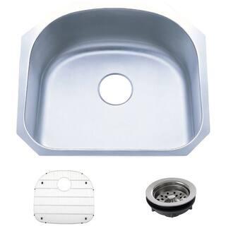 23.25-inch Stainless Steel 18 gauge Undermount Single Bowl Kitchen Sink|https://ak1.ostkcdn.com/images/products/8893314/P16114411.jpg?impolicy=medium