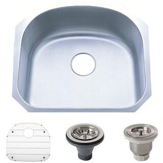 stainless steel 18 gauge 23 25 inch undermount single bowl kitchen sink round undermount kitchen sinks for less   overstock com  rh   overstock com