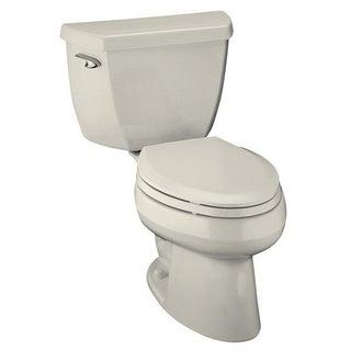 Kohler Wellworth Classic Biscuit 2-piece 1.6 GPF Pressure Lite Elongated Toilet