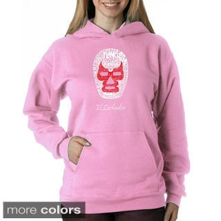 Los Angeles Pop Art Women's Luchador Wrestling Mask Sweatshirt