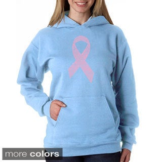 Los Angeles Pop Art Women's Breast Cancer Ribbon Sweatshirt
