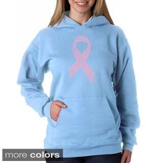 Los Angeles Pop Art Women's Breast Cancer Ribbon Sweatshirt