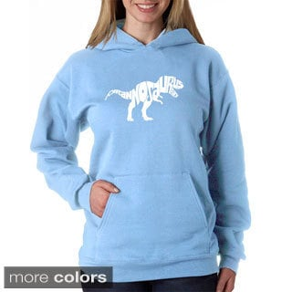 Los Angeles Pop Art Women's Tyrannosaurus Rex Text Sweatshirt