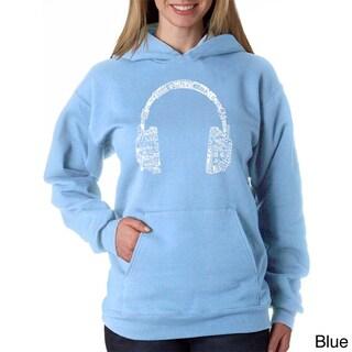 Los Angeles Pop Art Women's Music Headphones Sweatshirt (More options available)