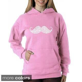Los Angeles Pop Art Women's Moustache Sweatshirt