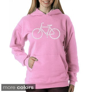 Los Angeles Pop Art Women's 'Save a Planet, Ride a Bike' Sweatshirt