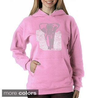 Los Angeles Pop Art Women's Endangered Species Elephant Sweatshirt