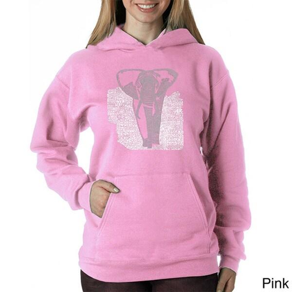 Los Angeles Pop Art Women's Endangered Species Elephant Sweatshirt