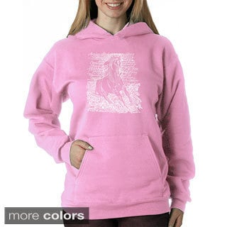 Los Angeles Pop Art Women's Horse Breeds Sweatshirt