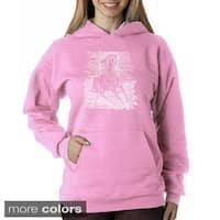 Los Angeles Pop Art Women's Horse Breeds Sweatshirt