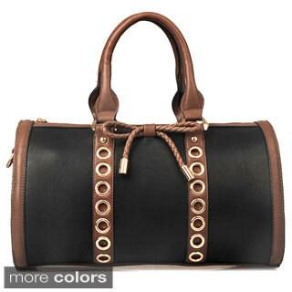 Oasis 'Eliza' Eyelet Studded Boston Bag