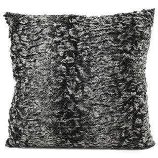 Mina Victory by Nourison Faux Fur Grey 18 x 18-inch Throw Pillow