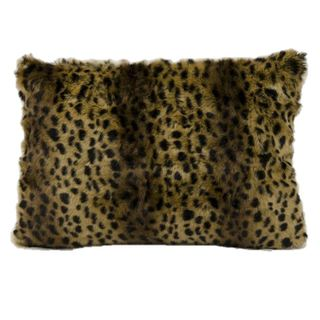 Mina Victory Faux Fur Brown/ Black 18-inch Throw Pillow