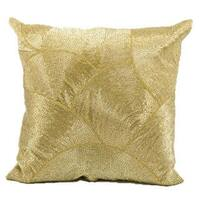 Mina Victory Luminescence Fan Design Gold Throw Pillowby Nourison (20-Inch X 20-Inch)