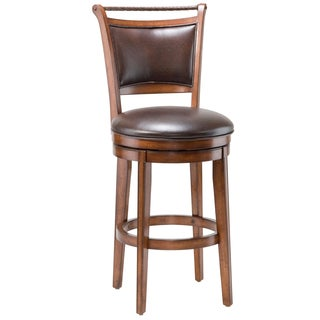 Shop Mansfield Brown Cherry Criss Cross Back Stool