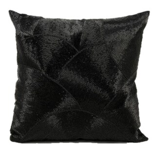 Mina Victory Luminescence Fan Design Black Throw Pillow (20-inch x 20-inch) by Nourison