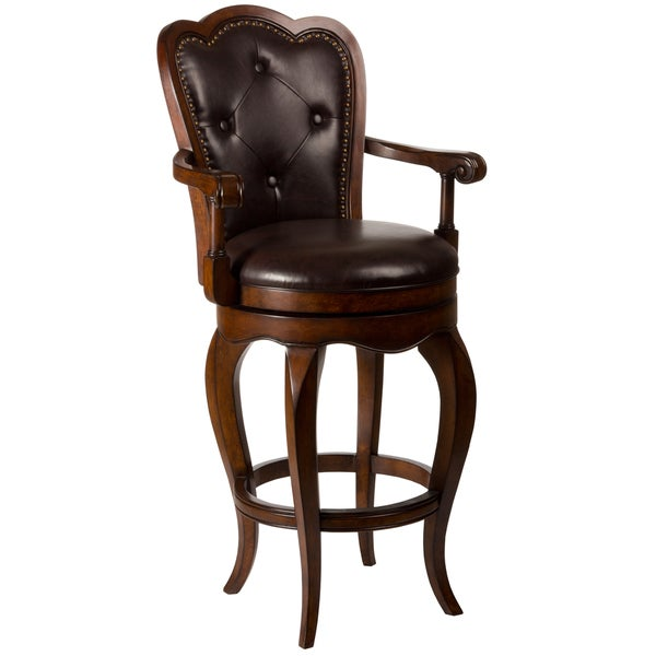 Eastwind Dark Cherry Swivel Stool