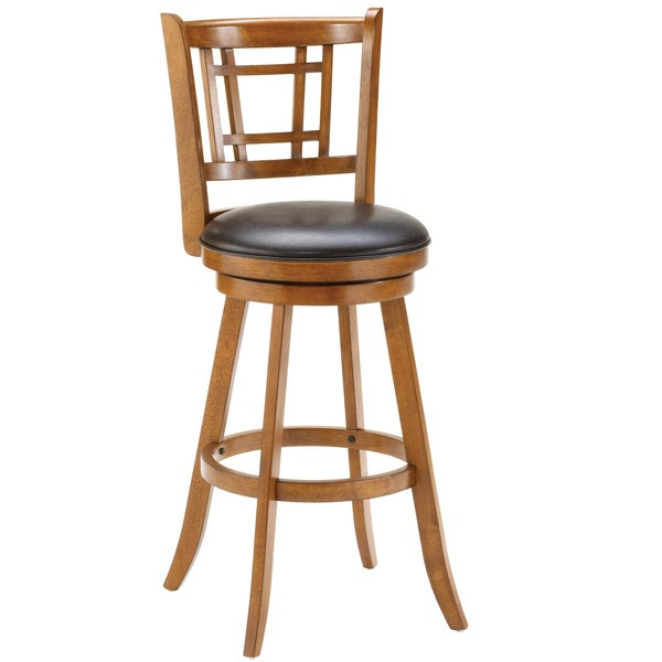 Fairfox Medium Oak Stool Free Shipping Today Overstock