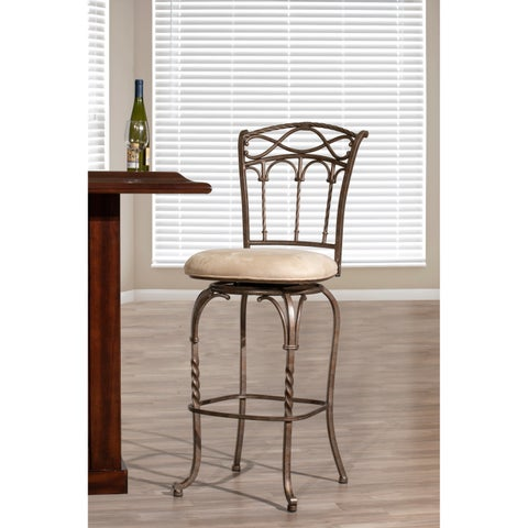 Kendall Pewter with Antique Bronze Stool