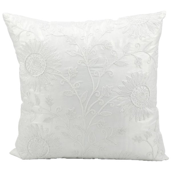 Mina Victory Lifestyle Ivory Throw Pillowby Nourison (18-Inch X 18-Inch)