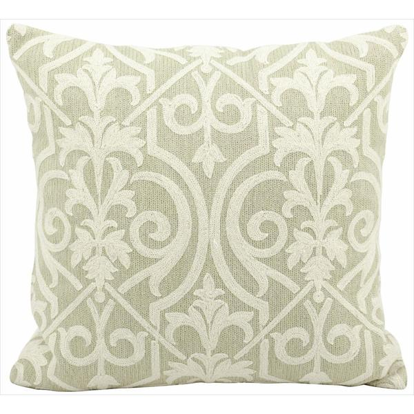 Mina Victory Lifestyle Lace Light Green Throw Pillowby Nourison (18-Inch X 18-Inch)