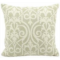 Mina Victory Lifestyle Lace Light Green Throw Pillow (18-inch x 18-inch) by Nourison