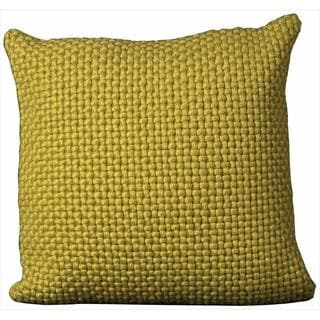 Mina Victory Felt Green 20-inch Throw Pillow