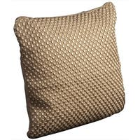 Mina Victory Woven Luster Tapis Beige Throw Pillow (20-inch x 20-inch) by Nourison