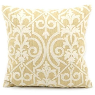 Mina Victory Lifestyle Lace Yellow Throw Pillow (18-inch x 18-inch) by Nourison