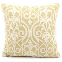 Mina Victory Lifestyle Lace Yellow Throw Pillowby Nourison (18-Inch X 18-Inch)