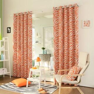 Aurora Home Zebra Printed Room-Darkening Grommet-Top 84-inch Curtain Panel Pair