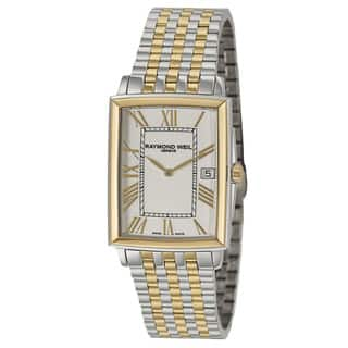 Raymond Weil Men's 'Tradition' Stainless Steel and Yellow Gold PVD Coated Swiss Quartz Watch https://ak1.ostkcdn.com/images/products/8893648/P16114654.jpg?impolicy=medium