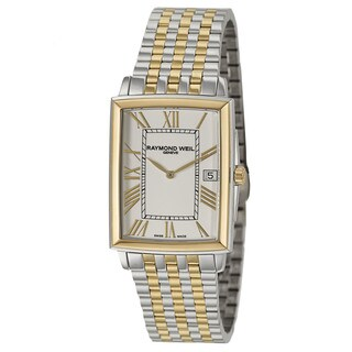 Raymond Weil Men's 'Tradition' Stainless Steel and Yellow Gold PVD Coated Swiss Quartz Watch