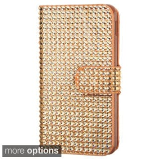 INSTEN Diamante Book-Style Wallet Phone Case Cover for LG D500/ MS500