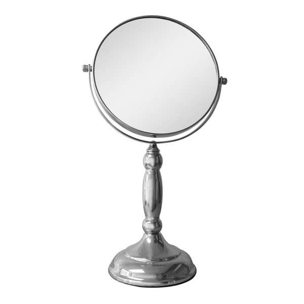 freestanding bathroom mirrors shop free standing oval 5x magnifying makeup mirror free 12913