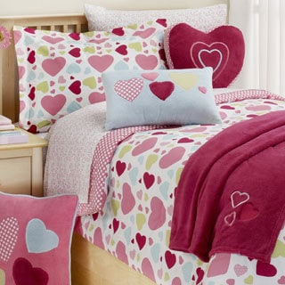 Hearts 2-piece Twin-size Comforter Set