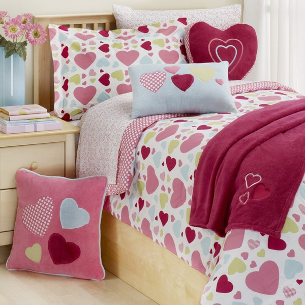 Hearts 2-piece Twin-size Comforter Set. Opens flyout.