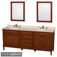 Wyndham Collection Hatton 80-inch Light Chestnut Double-sink Bathroom Vanity