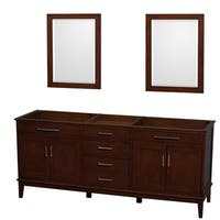 Wyndham Collection Hatton 80-inch Dark Chestnut Double-sink Bathroom Vanity