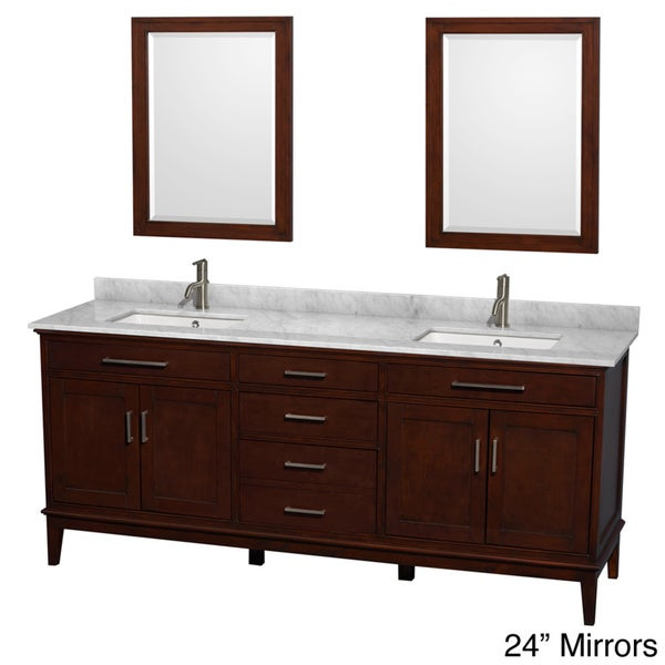 80 inch double sink bathroom vanity shop wyndham collection hatton 80 inch chestnut 24810