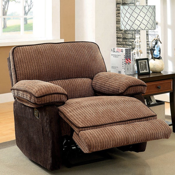 Furniture of America Hazel Mocha-Dark Brown Two-tone Chenille Fabric Recliner & Furniture of America Hazel Mocha-Dark Brown Two-tone Chenille ... islam-shia.org